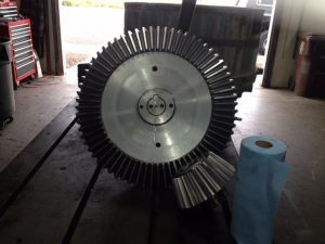 LARGE BEVEL GEAR SET MADE NEW FOR A SAND MULLER